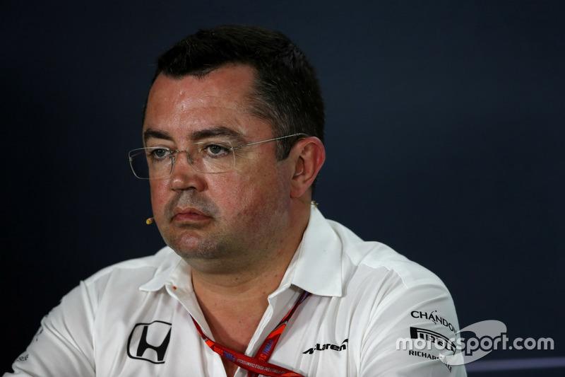 Eric Boullier, McLaren Renndirektor bei der FIA Pressekonferenz