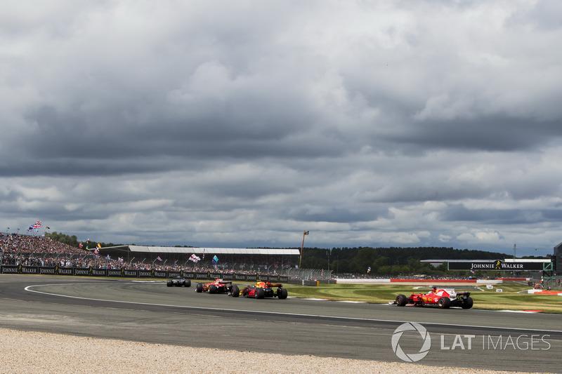 Льюіс Хемілтон, Mercedes AMG F1 W08, Кімі Райкконен, Ferrari SF70H, Макс Ферстаппен, Red Bull Racing RB13, Себастьян Феттель, Ferrari SF70H