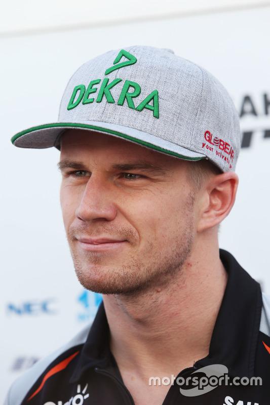 Nico Hülkenberg, Sahara Force India F1 im Gespräch mit der Presse