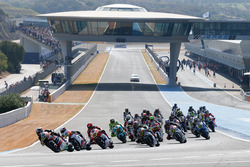 Moto2 race action