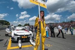 Gridgirl von Martin Tomczyk, BMW Team Schnitzer, BMW M4 DTM