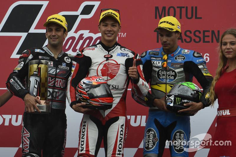 Podyum: 1. Takaaki Nakagami, Honda Team Asia, 2. Johann Zarco, Ajo Motorsport, 3. Franco Morbidelli, Marc VDS