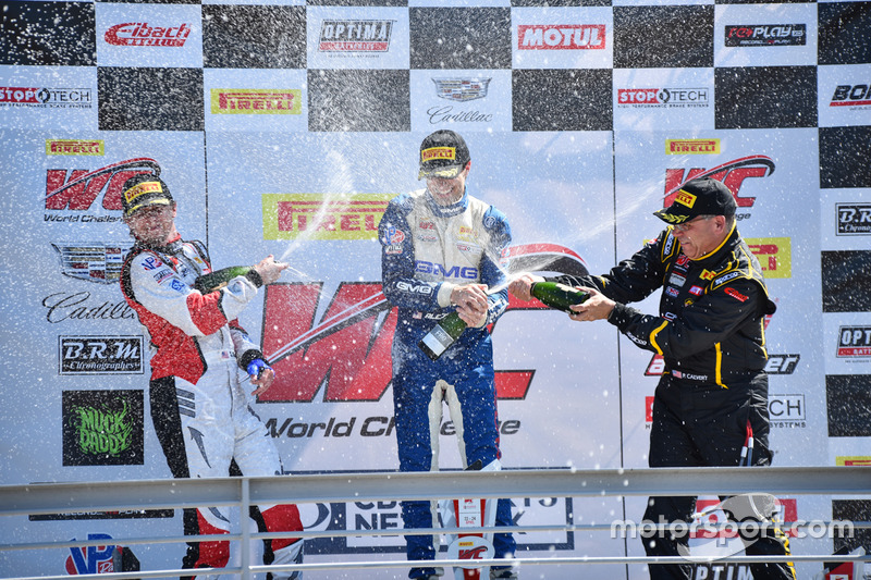 Podium GT-Cup: 1. Aled Udell, Global Motorsports Group; 2. Sloan Urry, TruSpeed Autosport; 3. Presto