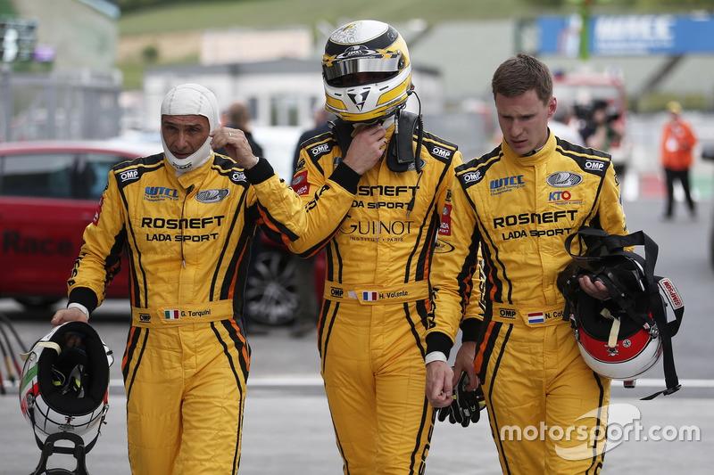 Gabriele Tarquini, Hugo Valente, Nicky Catsburg, LADA Sport Rosneft, Lada Vesta