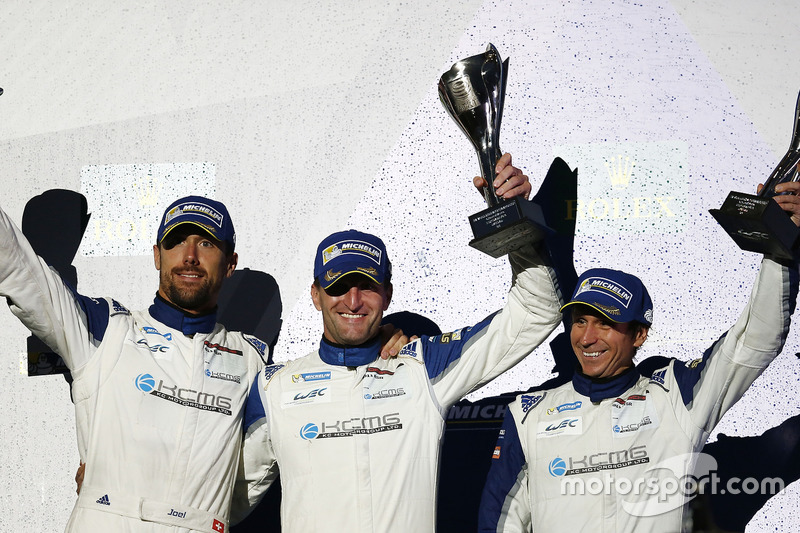 LM GTE Am third place Christian Ried, Wolf Henzler, Joël Camathias, KCMG
