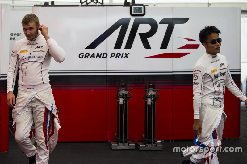 Sergey Sirotkin, ART Grand Prix e Nobuharu Matsushita, ART Grand Prix