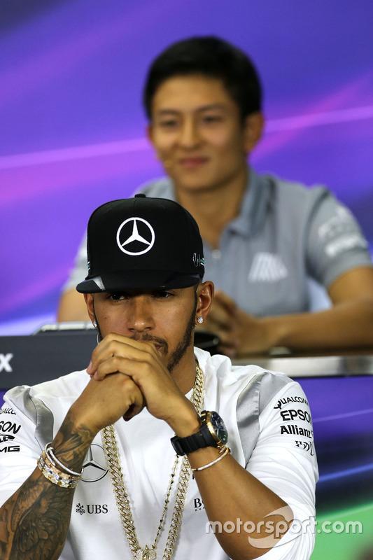 Lewis Hamilton, Mercedes AMG F1 während der Pressekonferenz