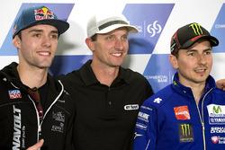 Jonas Folger, Dynavolt Intact GP; Colin Edwards; Jorge Lorenzo, Movistar Yamaha MotoGP, Yamaha
