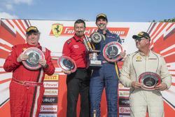 Trofeo Pirelli Am podium: winner Marc Muzzo, second place James Weiland, third place Steve Johnson