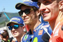 Polesitter Valentino Rossi, Yamaha Factory Racing, second place qualifying for Maverick Viñales, Tea