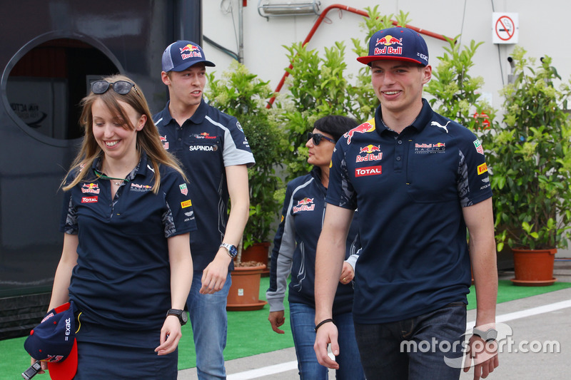 Max Verstappen, Red Bull Racing e Daniil Kvyat, Scuderia Toro Rosso