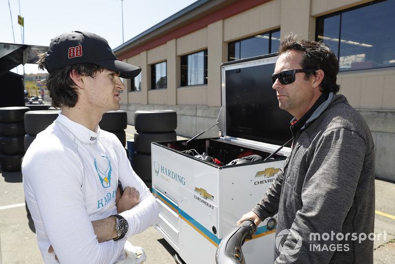 Colton Herta, Harding Racing Chevrolet, mit Vater Bryan Herta