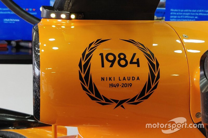 McLaren tribute to Niki Lauda