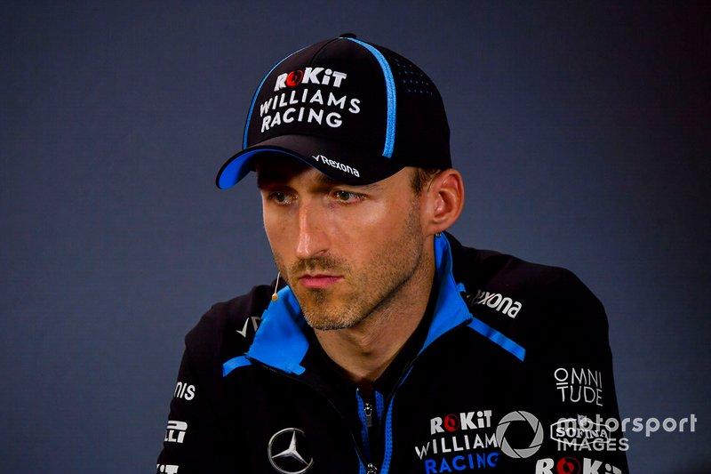 Robert Kubica, Williams Racing, durante la conferenza stampa