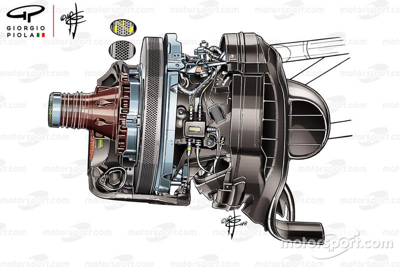 Ferrari SF71H brake discs