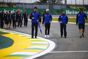 Ознакомление с трассой: Пьер Гасли, Scuderia Toro Rosso, Серхио Перес, Racing Point Force India F1