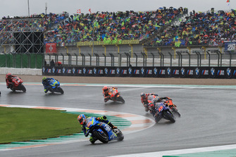 Alex Rins, Team Suzuki MotoGP leads at the start of the race