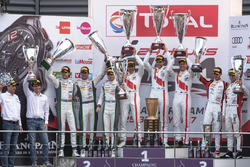 Podium: Race winner #25 Audi Sport Team Sainteloc Racing Audi R8 LMS: Markus Winkelhock, Christopher Haase, Jules Gounon, second place #8 Bentley Team M-Sport Bentley Continental GT3: Andy Soucek, Maxime Soulet, Vincent Abril, third place #90 Akka ASP Merc