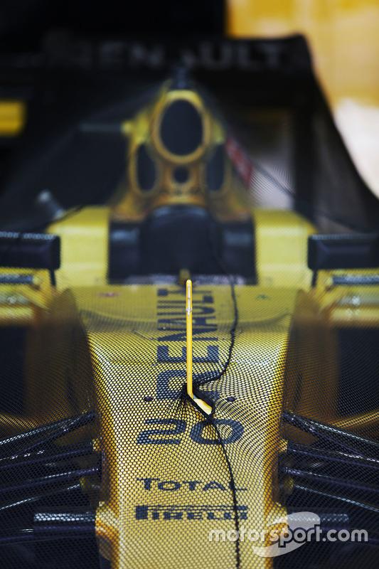 Renault Sport F1 Team RS16 en parc ferme condiciones