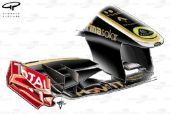 Lotus Renault R31 nose and front wing design, Turkish GP