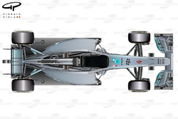 Mercedes W05 top view