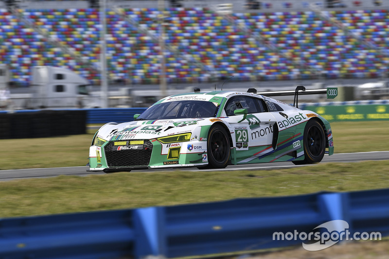 #29 Montaplast by Land-Motorsport Audi R8 LMS GT3: Connor de Phillippi, Christopher Mies, Jules Gounon, Jeffrey Schmidt