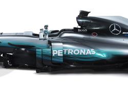 Mercedes AMG F1 W08: Windabweiser und Seitenkasten