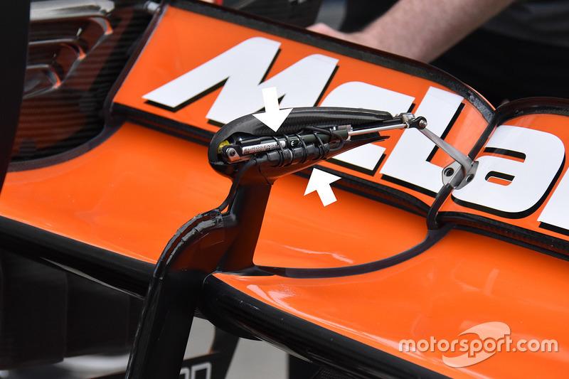McLaren MCL32, sensor en el alerón trasero