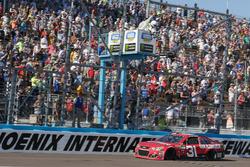 Checkered flag for Ryan Newman, Richard Childress Racing Chevrolet