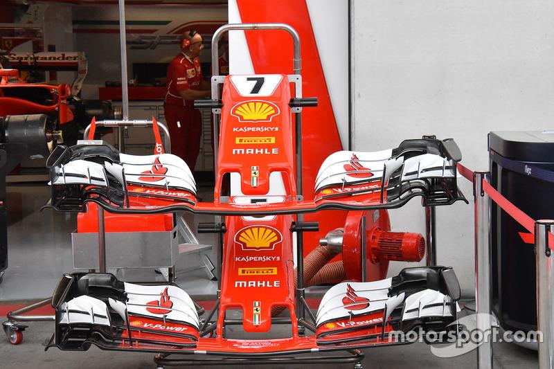 Ferrari SF70H detail van de voorvleugel
