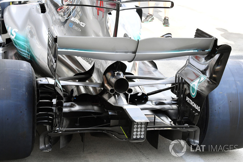 Alerón trasero del Mercedes AMG F1 W08
