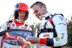 Крис Мик, Citroën World Rally Team, и Эсапекка Лаппи, Toyota Gazoo Racing WRC