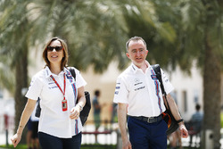 Claire Williams and Paddy Lowe of Williams F1 Team