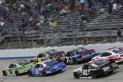 Daniel Suárez, Joe Gibbs Racing Toyota William Byron, JR Motorsports Chevrolet Justin Allgaier, JR Motorsports Chevrolet