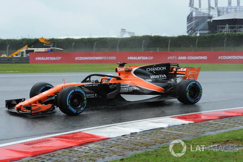 """Fernando Alonso, McLaren MCL32 con el halo tradiconal, no el """"Ángel"""""""