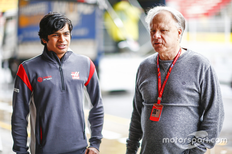 Arjun Maini, Pembalap Binaan, Haas F1 Team, dan Gene Haas, Pemilik dan pendiri Haas F1 Team