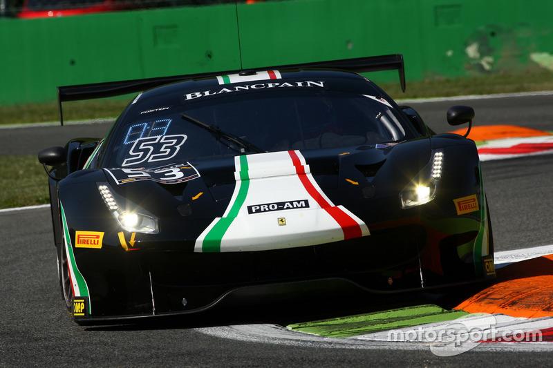 #53 Spirit Of Race, Ferrari 488 GT3: Niek Hommerson, Louis Machiels, Andrea Bertolini