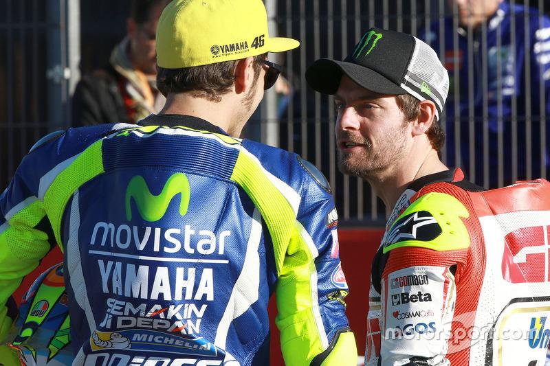 Valentino Rossi, Yamaha Factory Racing; Cal Crutchlow, Team LCR, Honda
