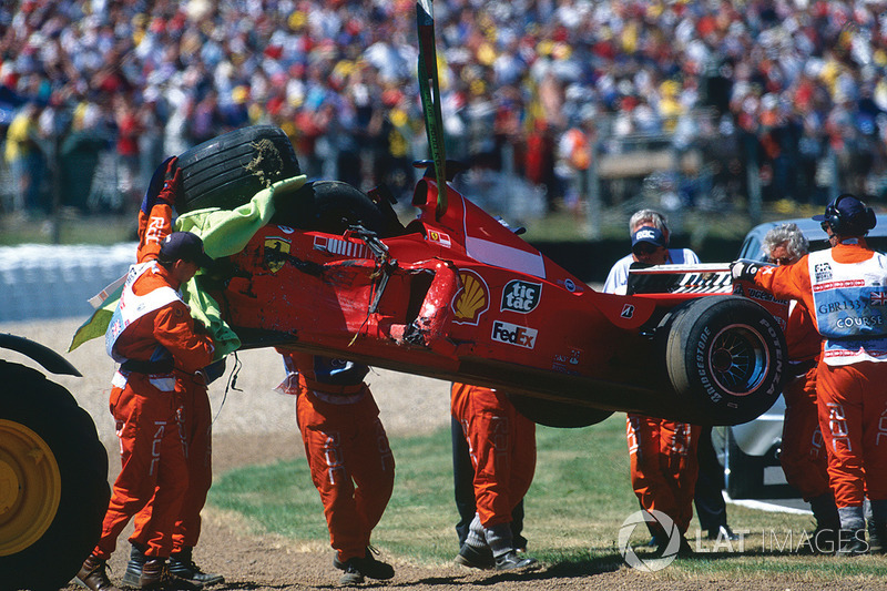Dit is er nog over van de Ferrari F399 van Schumacher: