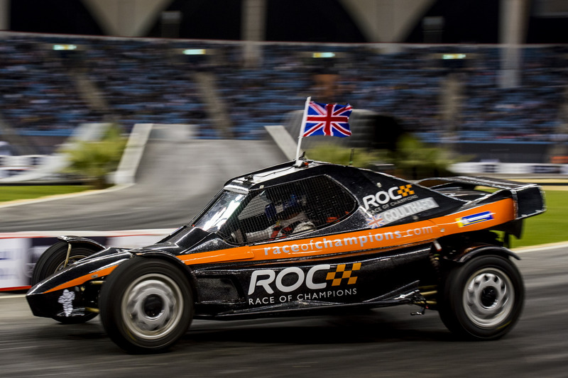David Coulthard del Team Great Britain alla guida della ROC Car