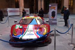 La Ferrari 488 GTE alla presentazione del Motor Show
