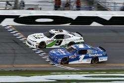 Tyler Reddick, JR Motorsports, BurgerFi Chevrolet Camaro takes the checkered flag
