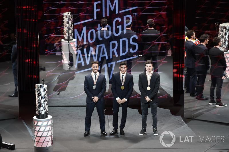 Марк Маркес, Repsol Honda Team, Андреа Довициозо, Ducati Team, и Маверик Виньялес, Yamaha Factory Ra