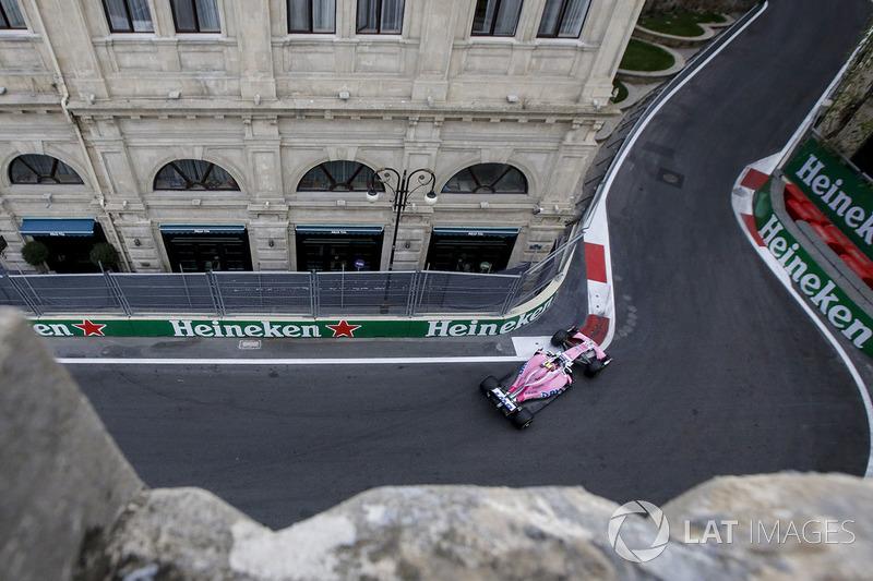 Esteban Ocon ficou logo atrás de Alonso, em sétimo