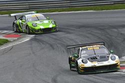 #24 Alegra Motorsports Porsche 911 GT3 R: Michael Christensen, Spencer Pumpelly, #54 Black Swan Raci