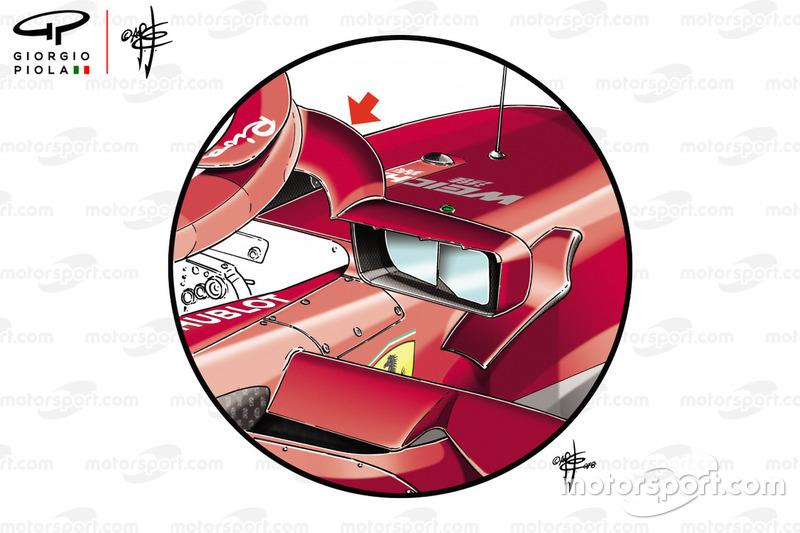 Ferrari SF71H mirrors, Monaco GP