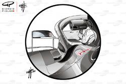 مرآة سيارة مرسيدس دبليو09
