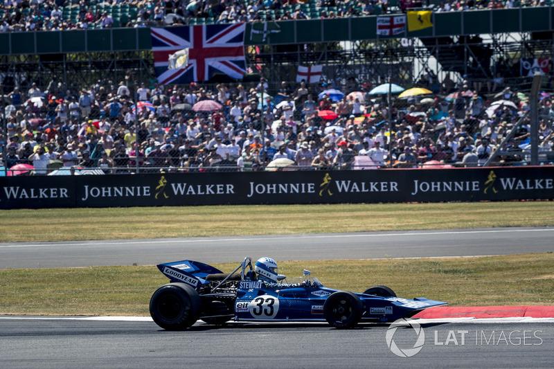 Tyrrell 005 at Silverstone dalam perayaan Silverstone ke 70