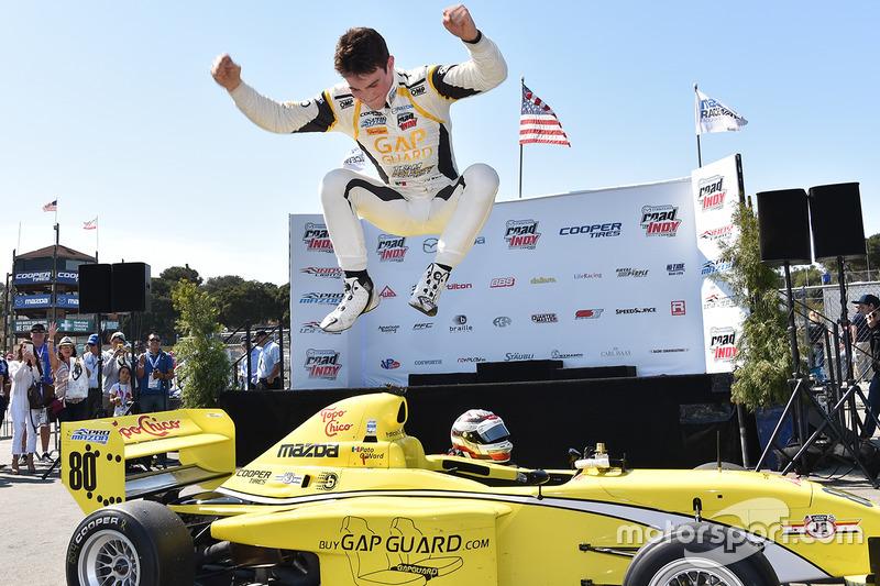 Race winner Pato O'Ward, Team Pelfrey