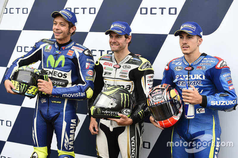 Polesitter Cal Crutchlow, Team LCR Honda, second position Valentino Rossi, Yamaha Factory Racing, th